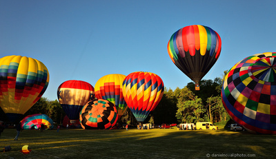 Hot Air Balloons Ready to Fly, Letchworth State Park