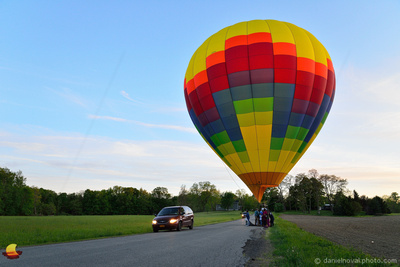 Aloft Horizons Landed, Balloon Landing on a Road