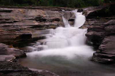 Colden Falls on West Branch Cazenovia Creek in Colden, New York (NY), inside the Colden Snowbelt, near Buffalo, NY.