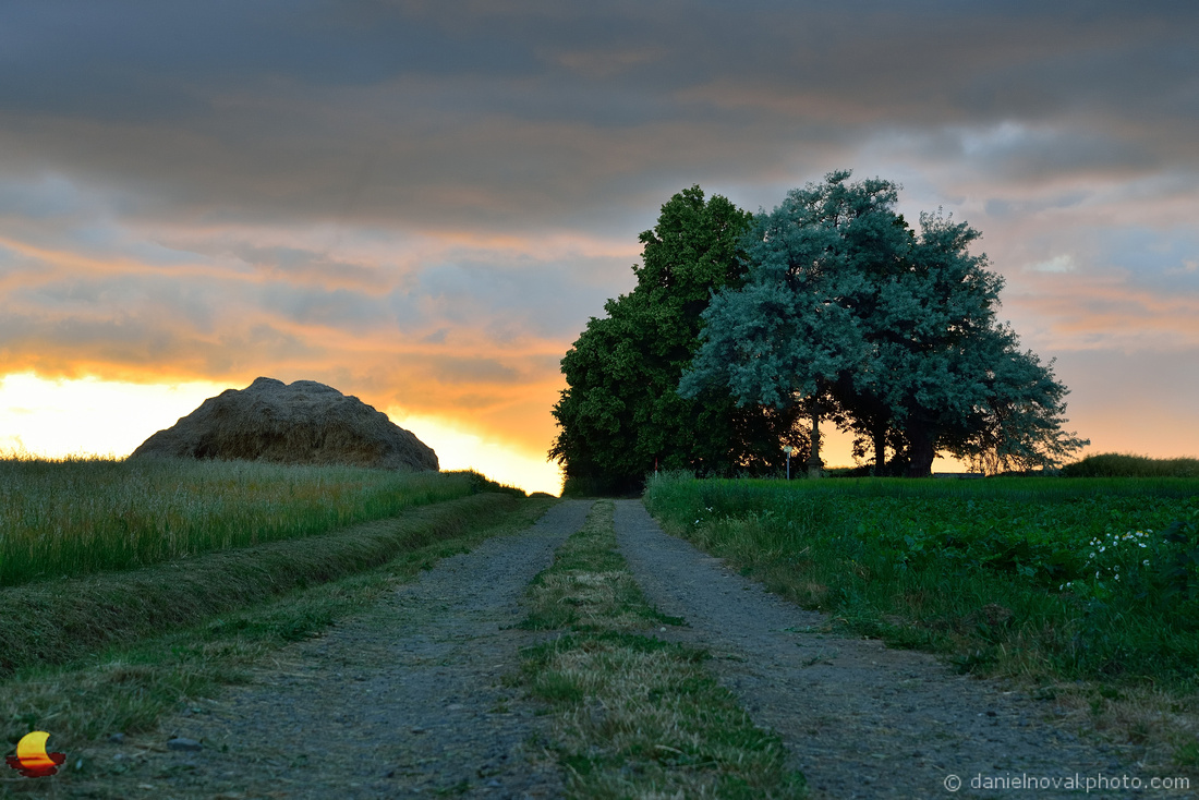 Haystack at Sunset, Southern Moravian Countryside, Czech Republic