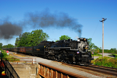 Nickel Plate Road No. 765 Steam Locomotive,  Union Road Overpass in Cheektowaga, NY
