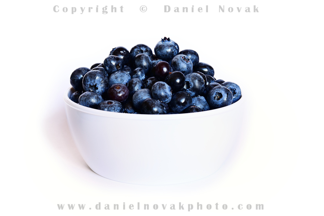 A healthy summer bowl full of blueberries from Awald Farms, North Collins, New York (NY).