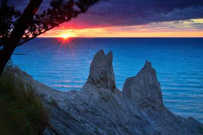 Blue Sunset at Chimney Bluffs, Twelve Months, Twenty Photos.