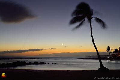 Poipu Beach Going to Sleep, Kauai, Hawaii
