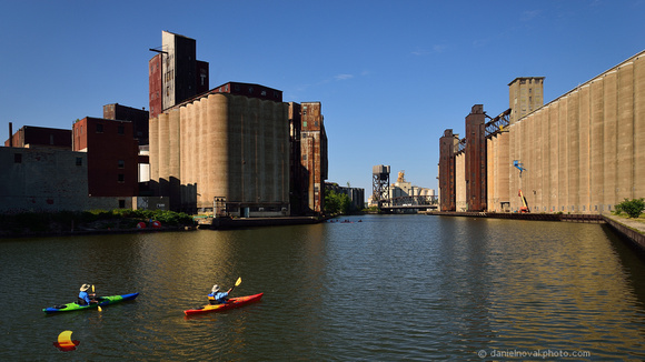 Kayaking the Elevator Alley, Buffalo, NY