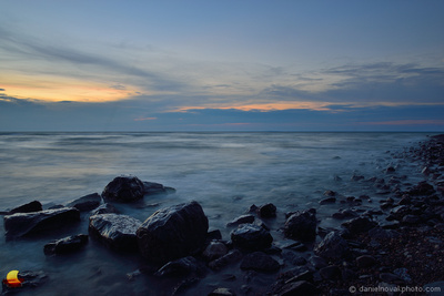 Lake Erie on the Rocks, Day's End