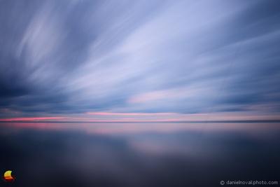 Clouds Streaming over Lake Erie, Hamburg Beach, Hamburg, NY