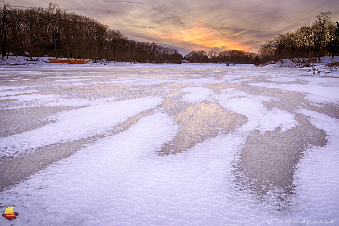 Winter Colors of frozen Green Lake, Yates Park, Orchard Park, NY