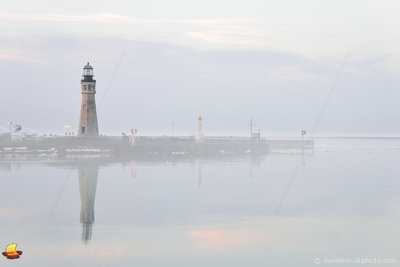Dreamy Lighthouse, Buffalo Main Light in Fog, Buffalo, NY