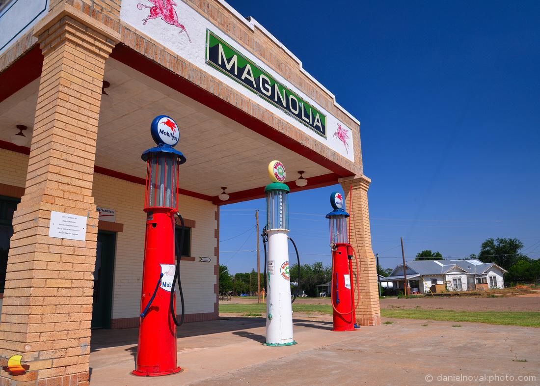 Route 66: Magnolia Gas in Shamrock, TX