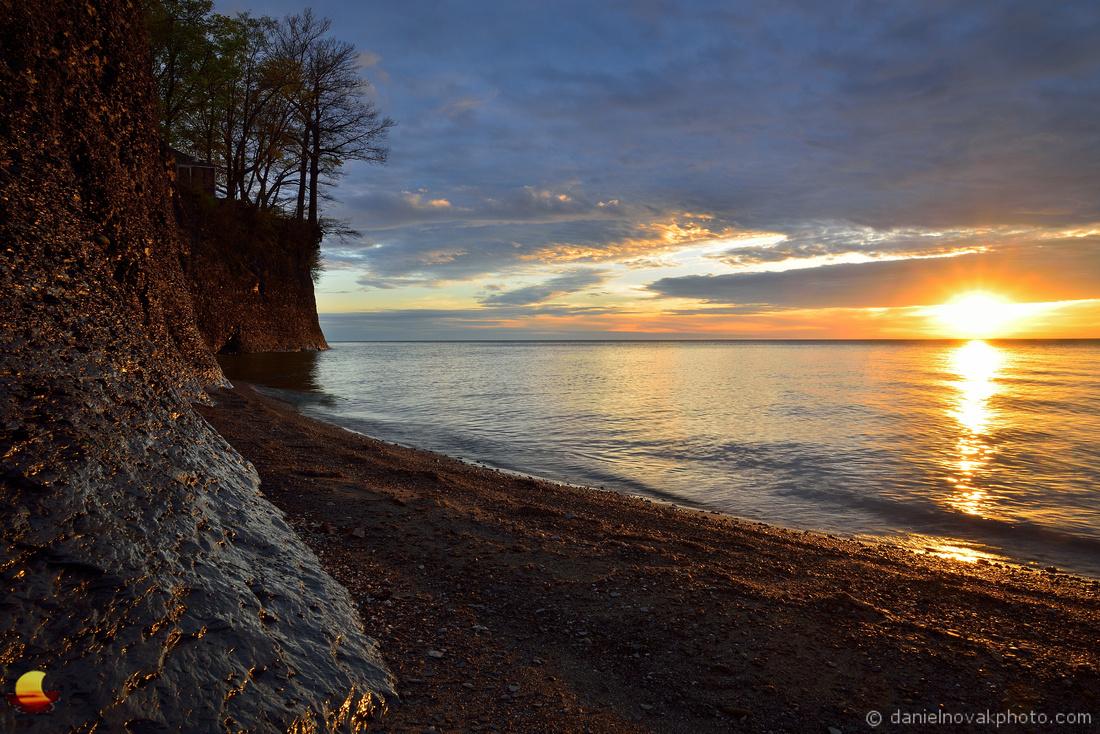 Quiet Sunset over Lake Erie, Hamburg Beach, Hamburg, NY
