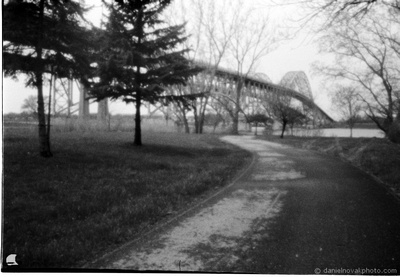 Path to South Grand Island Bridge, Buffalo, NY, 2017 Worldwide Pinhole Photography Day