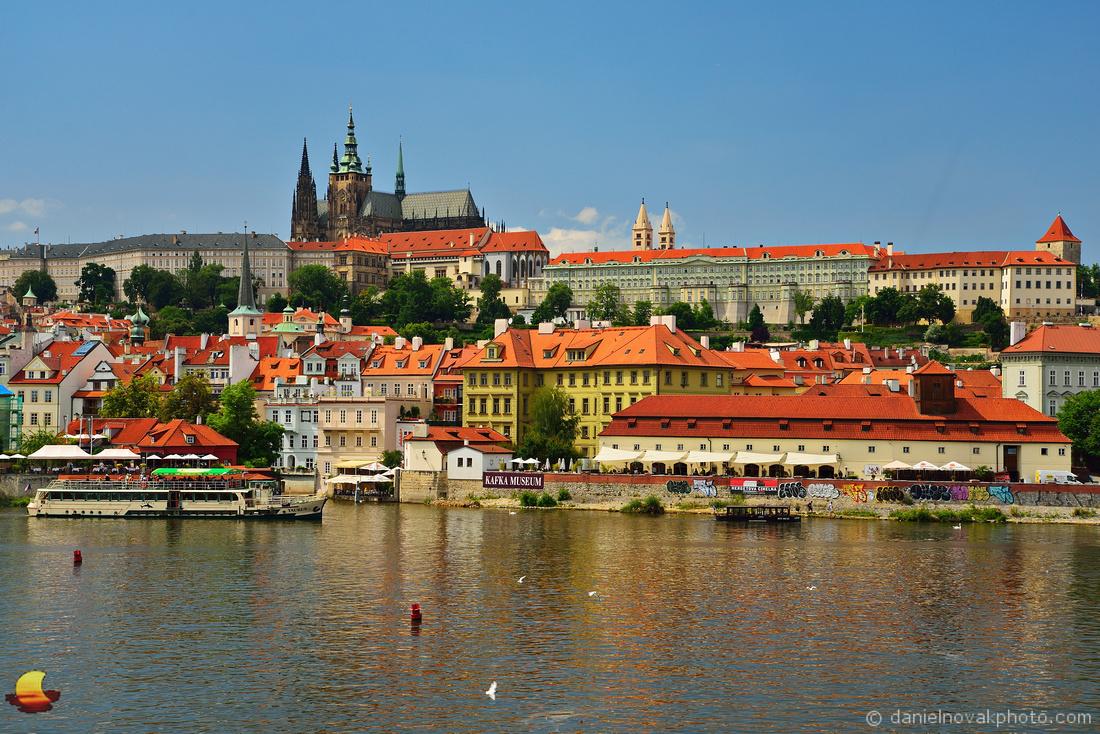 Prague Castle over Vltava River, Czech Republic