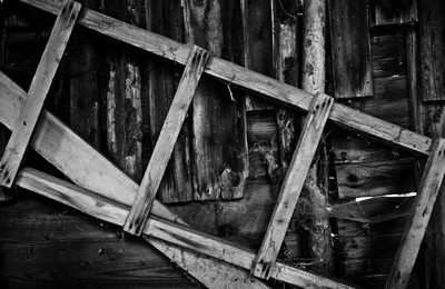 Old Ladder in an Old Shed, Southern Moravia, Czech Republic. Twelve Months, Twenty Photos.