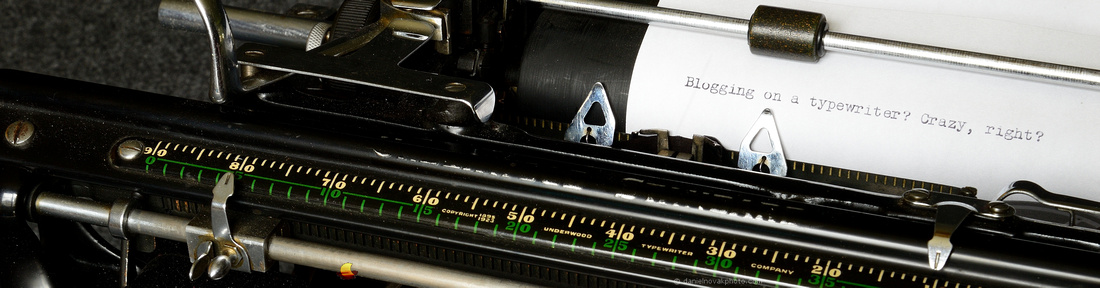 Blogging on a typewriter? Crazy, right?