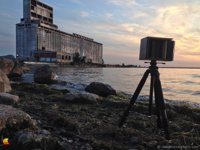 """Lensless 4""""x5"""" by Cargill,Behind the Scenes, Outer Harbor, Buffalo, NY"""