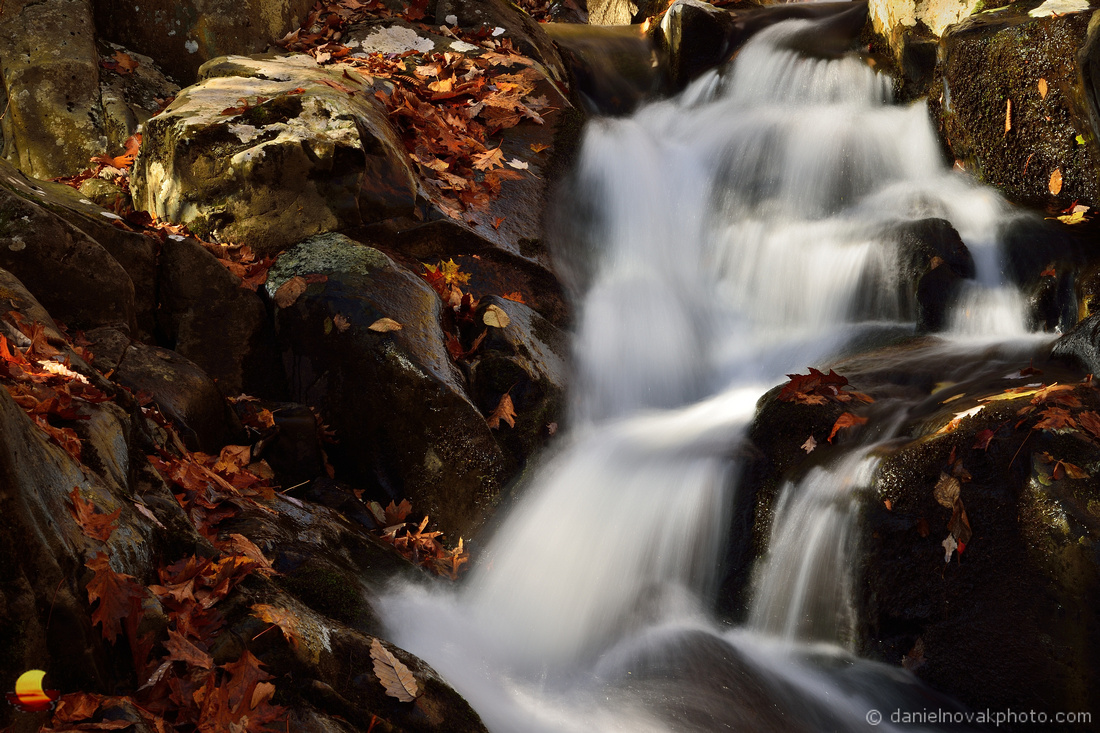 Falling Water of Fall, Rose River Falls, Shenandoah National Park, Virginia