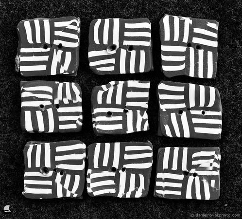 Button Pattern in Black & White