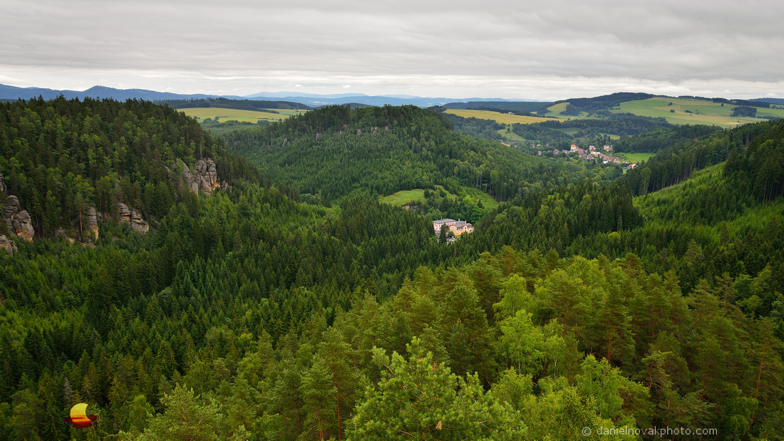 Střmen Castle View, Teplice Rocks, Czech Republic