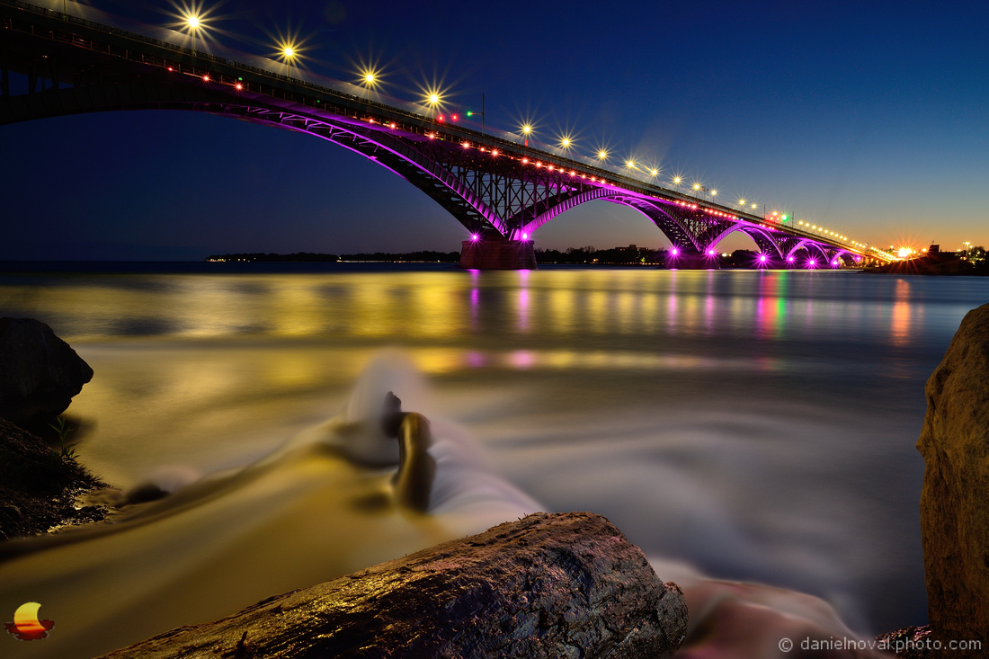 Gold & Purple Peace Bridge, Buffalo, NY