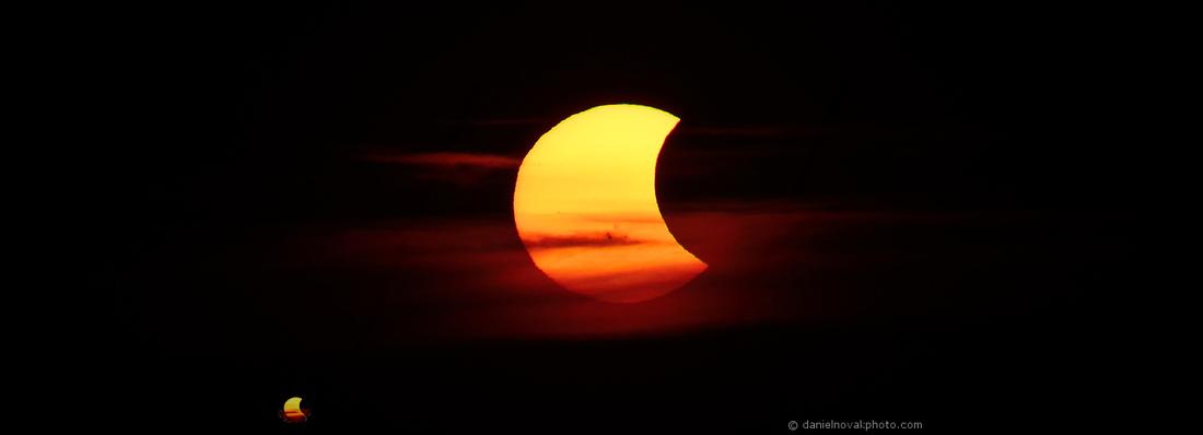 Partial Solar Eclipse, October 23, 2014 - Buffalo, NY