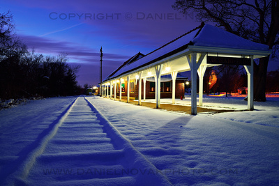 Where the Trains Don't Go Any More, Buffalo Rochester & Pittsburgh Depot in Orchard Park, New York, Winter Dozen.