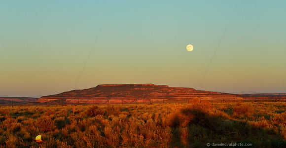 Moonrise over Somewhere by Monticello, Road Tripping Utah 191.