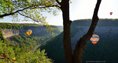 Over the Gorge, 13th Annual Red, White and Blue Hot Air  Balloon Festival in Letchworth State Park, Memorial Day Weekend 2014