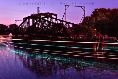 The last frame at the Tonawanda Creek / Erie Canal Railroad Swing Bridge connecting Tonawanda and North Tonawanda, New York (NY).