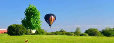 Scouting a Landing Spot, 13th Annual Red, White and Blue Hot Air  Balloon Festival in Letchworth State Park, Memorial Day Weekend 2014