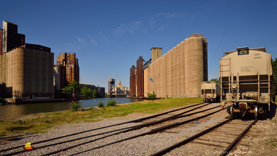 Elevators and Trains, Standard Grain Elevator, Buffalo River, Buffalo, NY