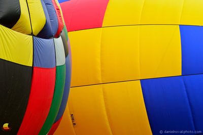 Colorful Ballon Abstract, 16th Annual Red, White, and Blue Balloon Festival in Letchworth State Park, 2017