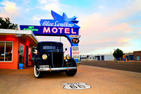Road Trip Travel Photography, Route 66: Blue Swallow Motel, Tucumcari, NM