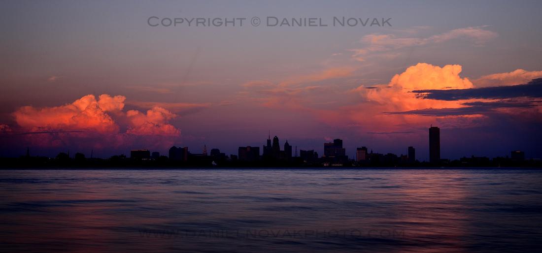 Dark Drama over Buffalo Skyline and Niagara RIver