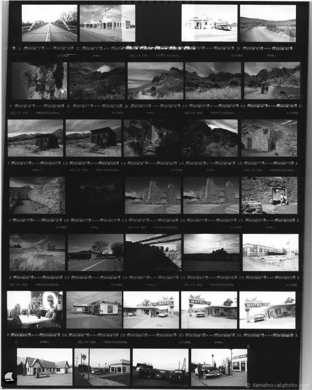 Road Trip 2018 on Black & White Film, Contact Print
