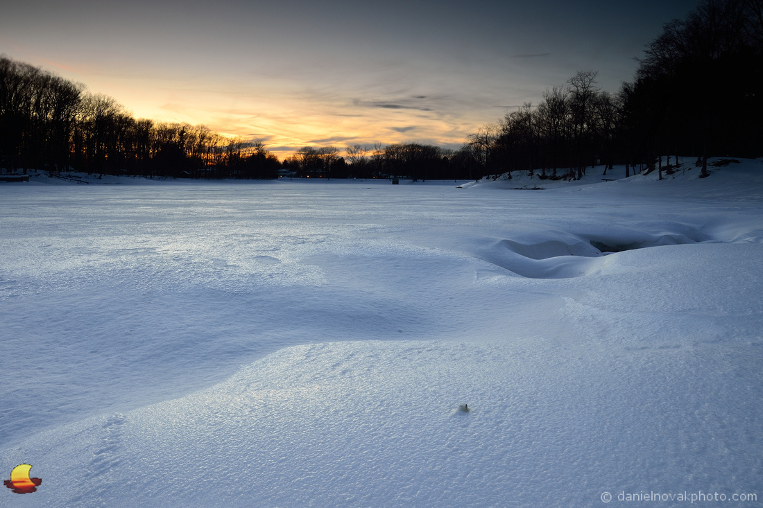 Green Lake Frozen Over, Yates Park, Orchard Park, New York (NY)