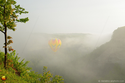 In the Fog by Big Bend, 16th Annual Red, White, and Blue Balloon Festival in Letchworth State Park, 2017