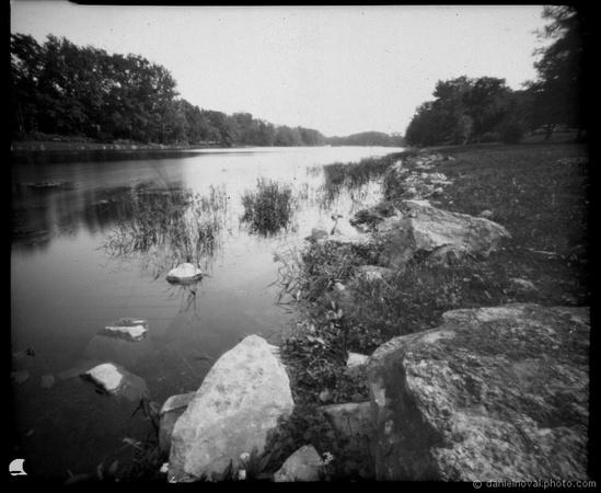 Green Lake, Lensless 4x5 Pinhole Camera, Ilford Paper