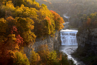 Gorge of Colors, Letchworth State Park's Middle Falls in the Colorful Fall Season