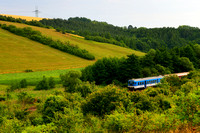 Local Train in Moravian Wilderness, Brno - Uherský Brod, Czech Republic