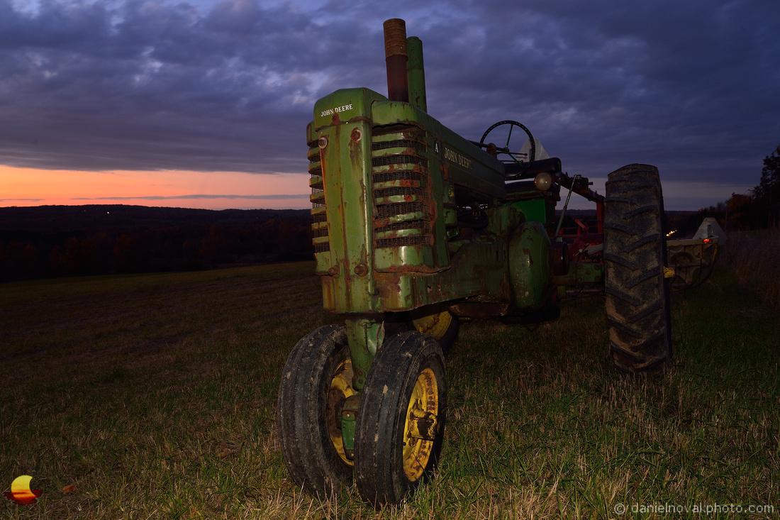 John Deere, A Tractor at Sunset