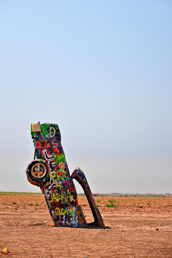 One Cadillac - Cadillac Ranch, Route 66 Roadside, Amarillo, Texas