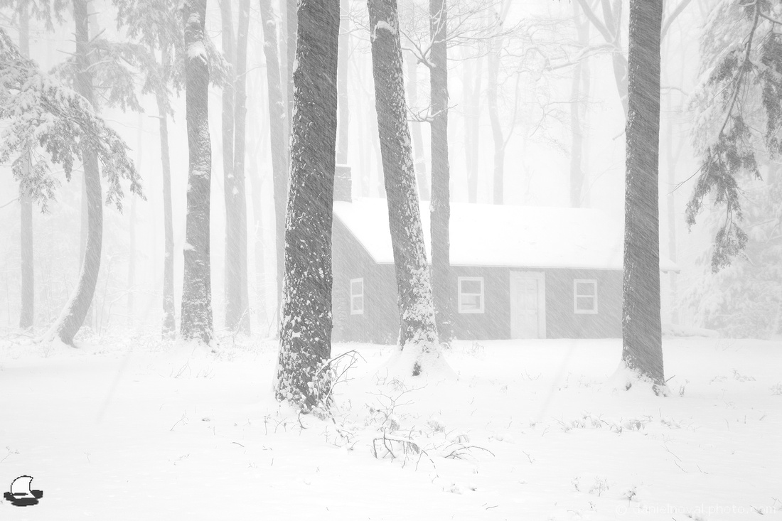 Cottage in Snow, Chestnut Ridge Park, Orchard Park, NY
