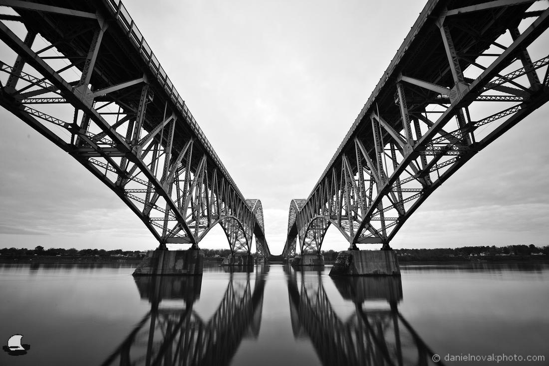 Black & White Symmetry, South Grand Island Bridge, Buffalo, NY
