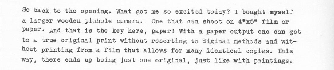 Typewriter Blog, Paragraph 4