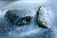Murder Creek, Blue on the Rocks, Akron Falls Park near Buffalo, NY