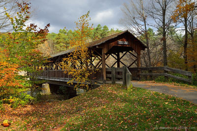 Thomas L Kelly Covered Bridge Covered with Colors, Allegany State Park