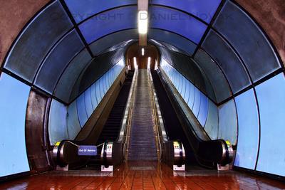 Delavan - Caniscius Station Escalators, Buffalo NFTA Metro Rail Subway, Twelve Months, Twenty Photos