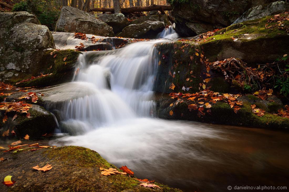 Waterfall Cascading Down, Shenandoah National Park, Virginia