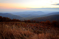 Distant Mountain Peaks at Sunset, Skyline Drive of Shenandoah National Park, Virginia